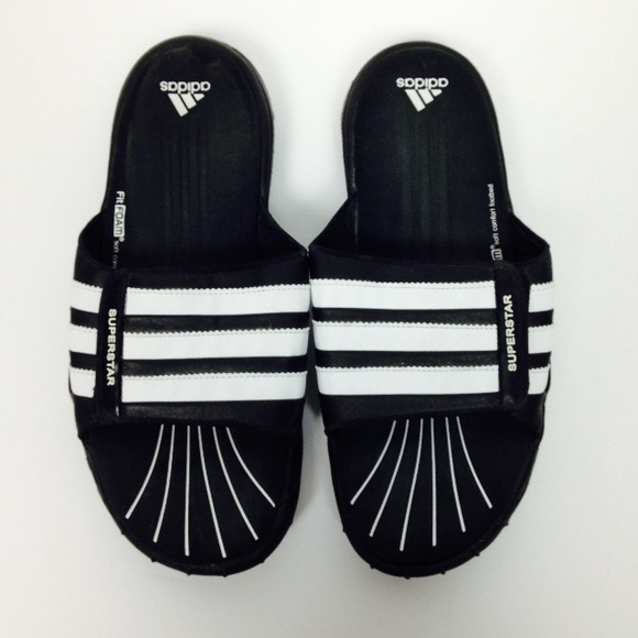 d401f615eb600f adidas Other - Adidas Superstar Fit Foam Black Slide Sandals 10
